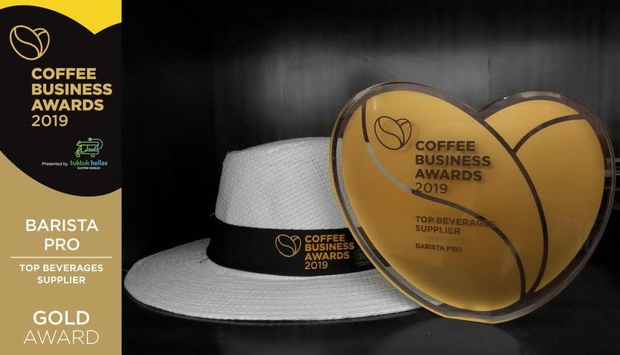 H Barista Pro διακρίθηκε με Gold βραβείο στα Coffee Business Awards 2019